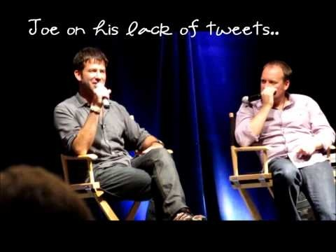 Joe Flanigan and David Hewlett ChiCon 2011...it's a wonder how these two got any work done on the set!!