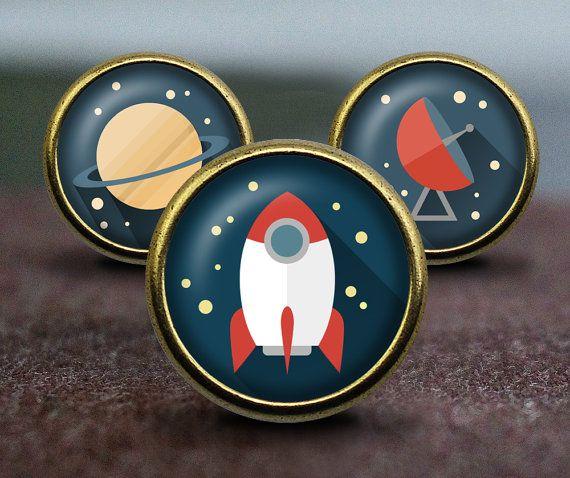 STAR WARS / Planet / Rockets / Radar / Handmade Vintage Bronze Dresser knobs cabinet Dresser Knobs pull /  Furniture Knobs