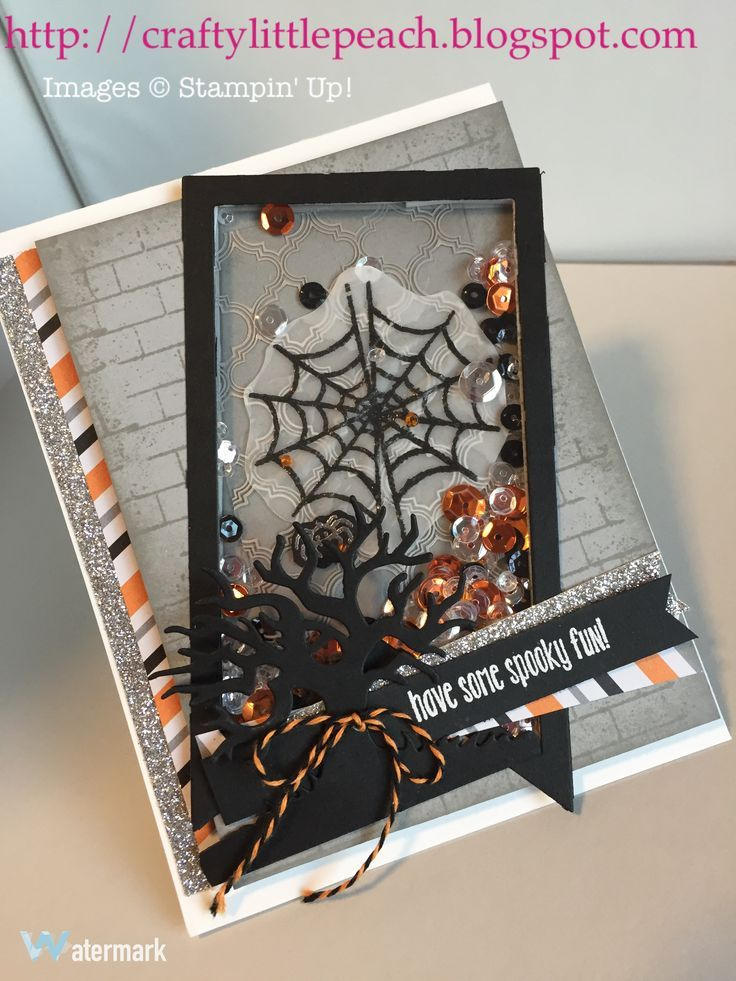 Stampin' Up! Spooky Fun Halloween Shaker Card                                                                                                                                                                                 More
