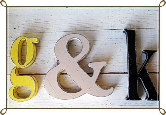 Distressed Wooden Lower Case Letters 8 inch by SouthernMadeSigns