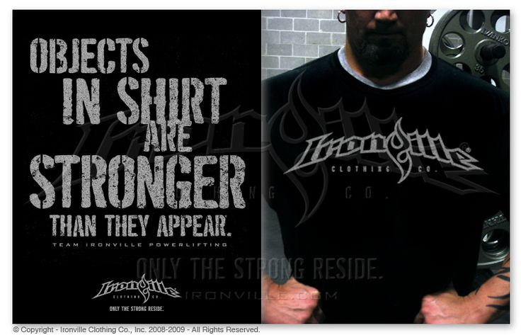 OBJECTS IN SHIRT ARE STRONGER THAN THEY APPEAR. Powerlifting Shirt