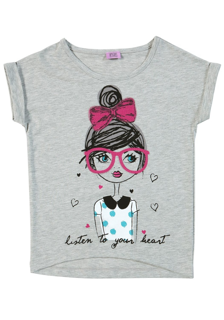 Love all these girly illustrations about at the moment - heres one in Tesco by F Girl with glasses t-shirt