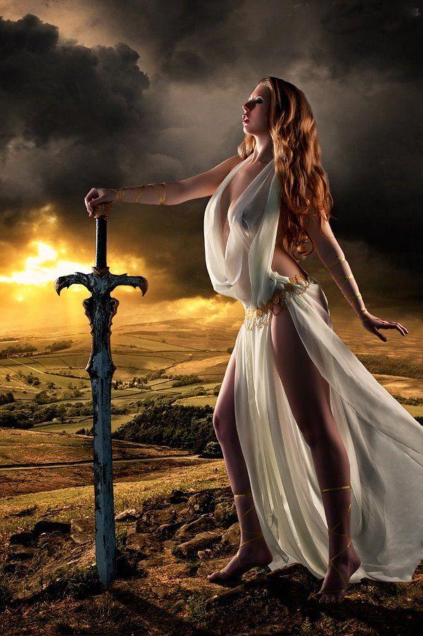 fantasy art... Mmmm sexy Girls with weapons of mass destruction... lol