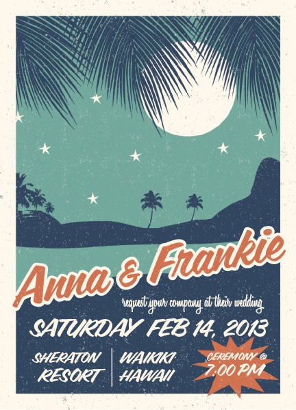 retro hawaii wedding invitations by gakemi art+design for minted. perfect for a vintage-inspired tropical wedding!