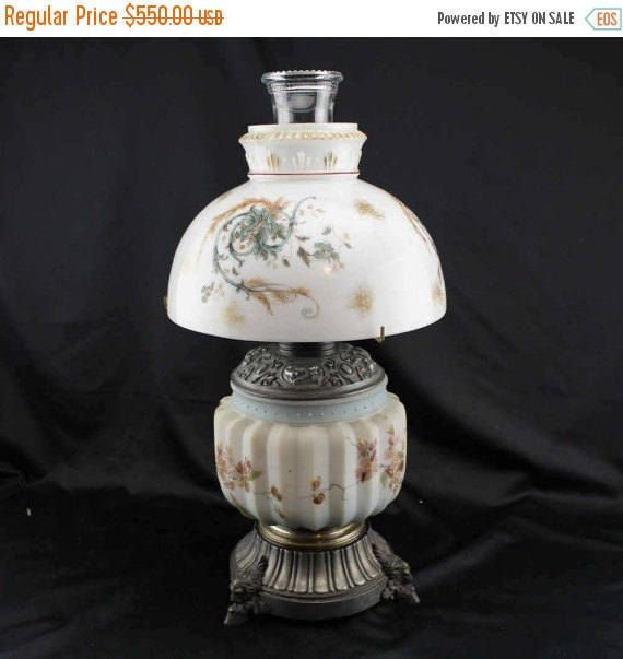1890s Antique Oil Lamp Hurricane Lamp Climax by BCScollectibles