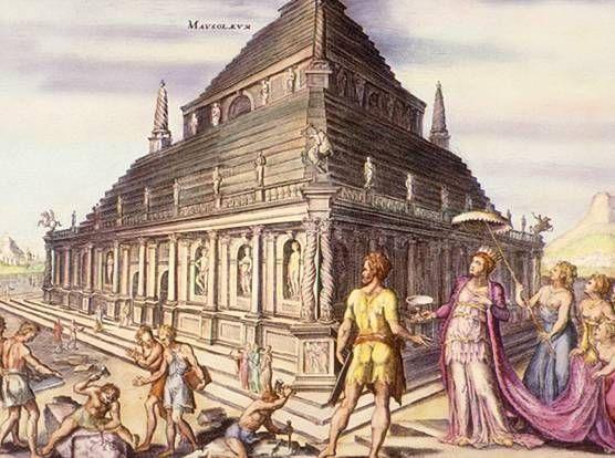 """""""Mausoléu de Halicarnasso"""". Uma das 7 Maravilhas do Mundo Antigo. Grécia."""