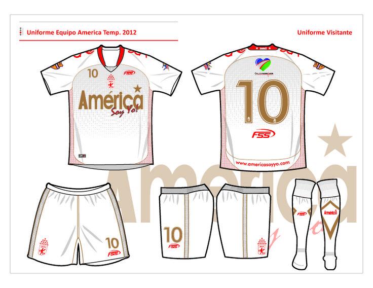 Diseño uniforme #2 Equipo America S.A.  Año 2012 (Colombia).