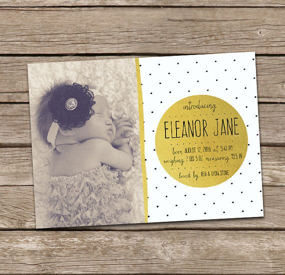 Printable Birth Announcement : Eleanor 1 Baby Girl by deanworks