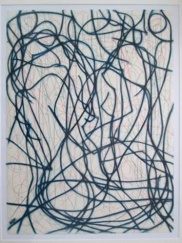 "Saatchi Art Artist Kevin Jones; Drawing, ""Blue Lines No.4"" #art"