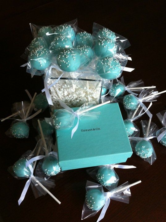 tiffany treat pop display | ... pops per person. Each cake pop is equivalent to a little more than