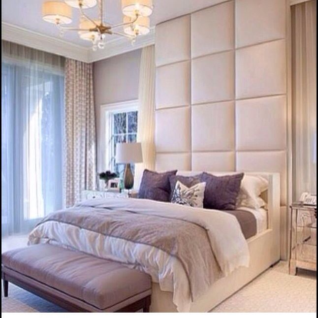Neutrals floor to ceiling headboard interior design - Floor to ceiling headboard ...