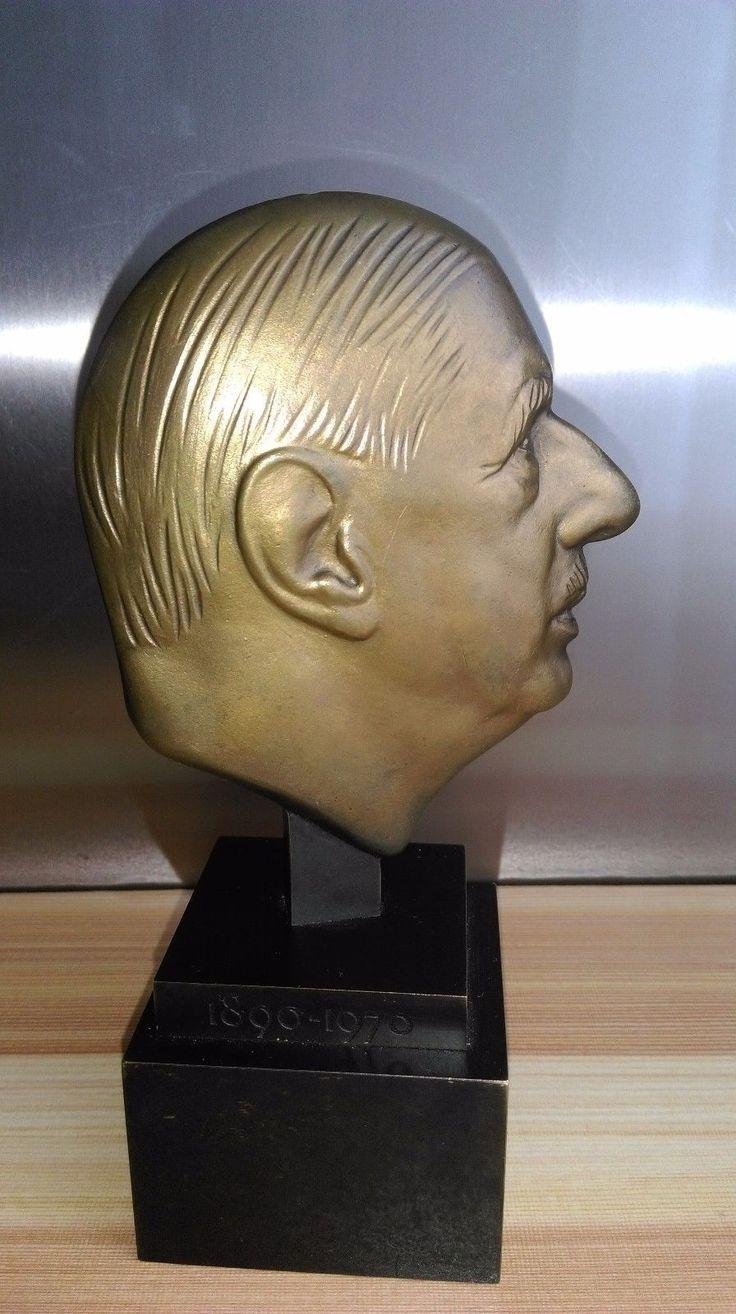 RARE BUSTE EN BRONZE du général De Gaulle (1890-1970) BR 1996 Monnaie de Paris | eBay