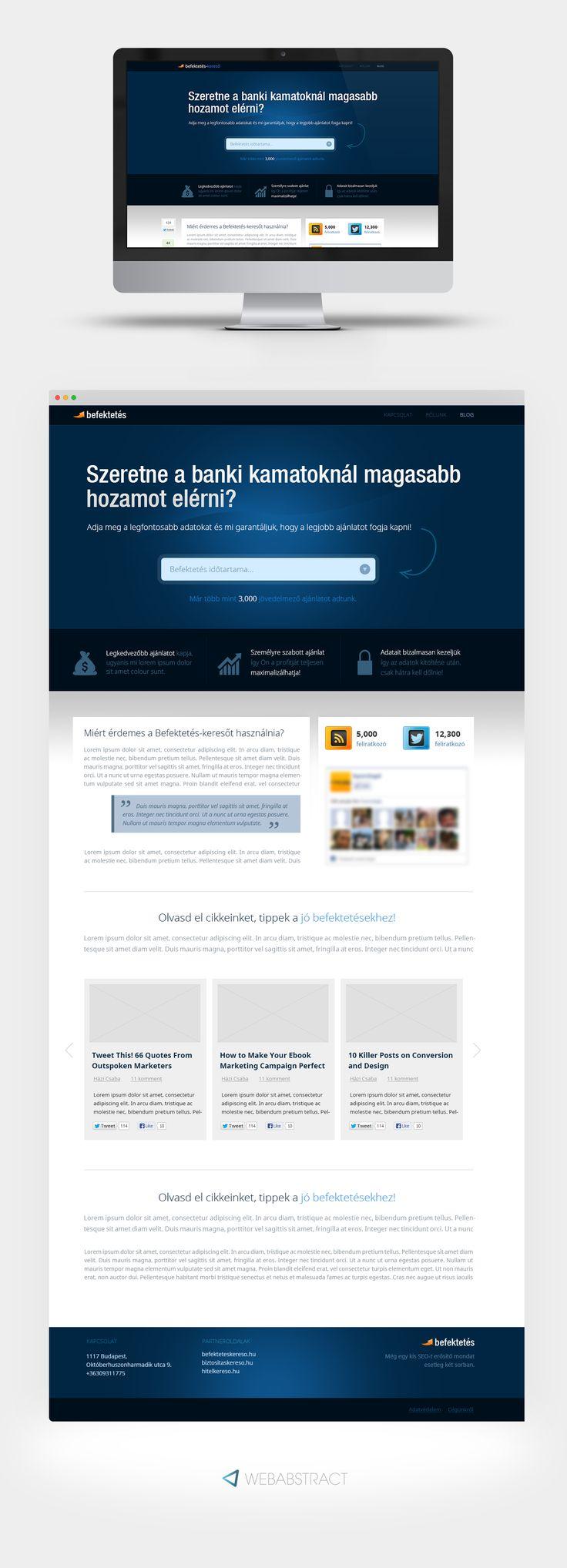 Financial project, complete website design. #financial #web #design