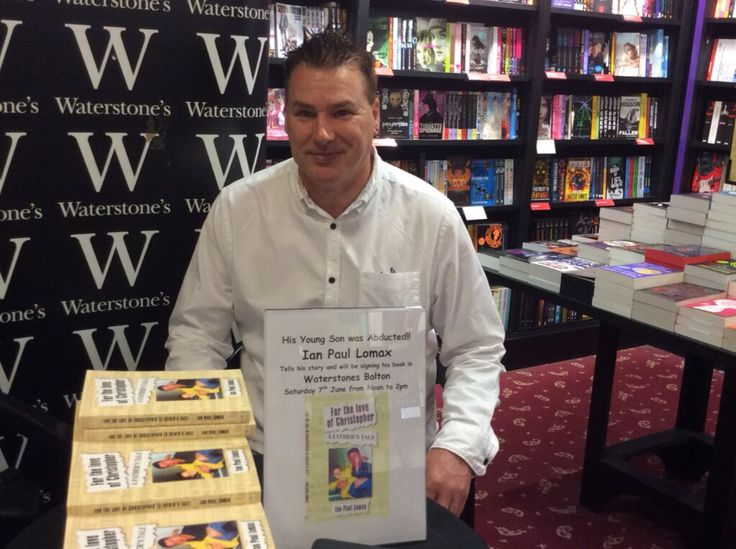 My book launch at water- stones in Bolton for the love of Christopher a true story of love and betrayal and the abduction of a Bolton boy on a family holiday in Greece . Available on Amazon and Google play store
