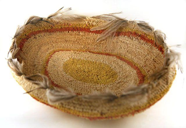 Aboriginal hand Woven Basket by Kanytjupai Armstrong