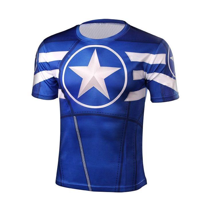 Captain America Men T-Shirt //Price: $19.95 & FREE Shipping //