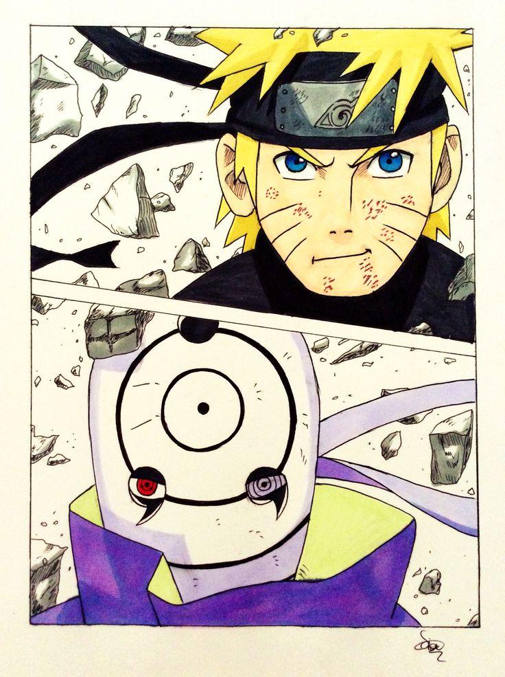 Naruto and Obito