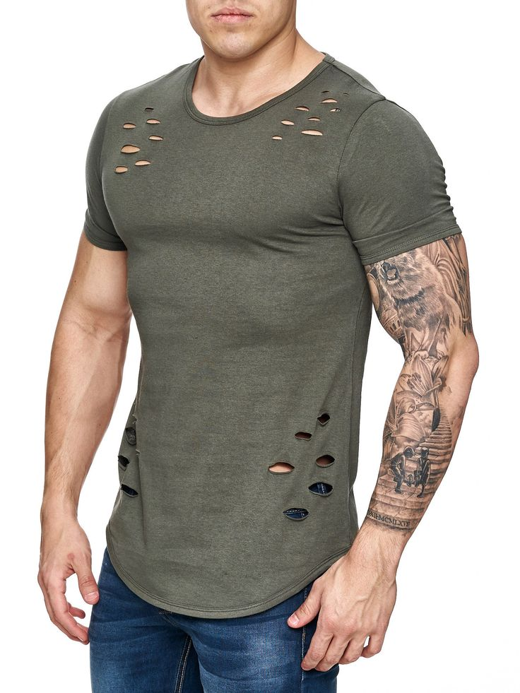 Nice slim fit / muscle fitted Ripped T-shirt IMPORTANT ...