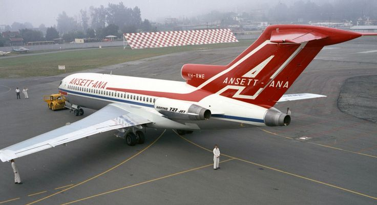 Ansett's first Boeing 727- 77 (VH-RME) rolls out at Renton USA