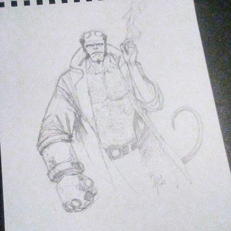 #Hellboy sketch #comics #comicart #darkhorse #art #drawing #draw #sketchbook #sketch #illustration #pencils #pencilsketch #lifedrawing