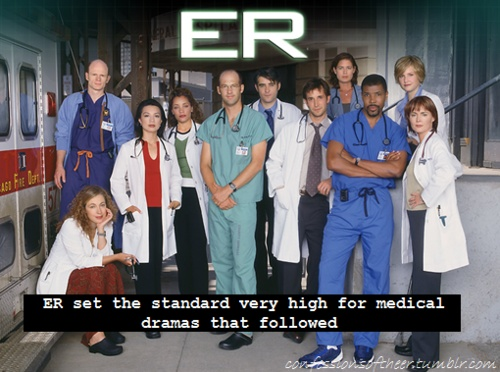 "ER tv show - other favorite 1990's show. I liked the later seasons, especially with John Stamos and Linda Cardellini..but to me ""ER"" is the show with George Clooney, Noah Wylie, and Sherry Stringfield."