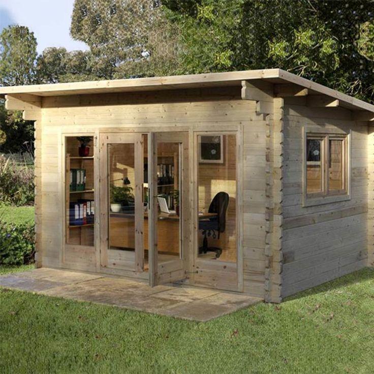 Installed Forest Garden Melbury 44mm Log Cabin 13ft 1 x 9ft 8 (4.0 x 3.0 m