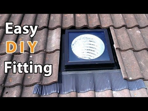 VELUX sun tunnel DIY install - EASY how to fit a solar tube or suntube