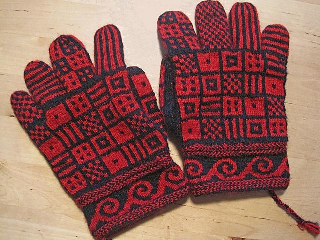 Ravelry: Knotting's Hakon - Finger mittens two-endknitted