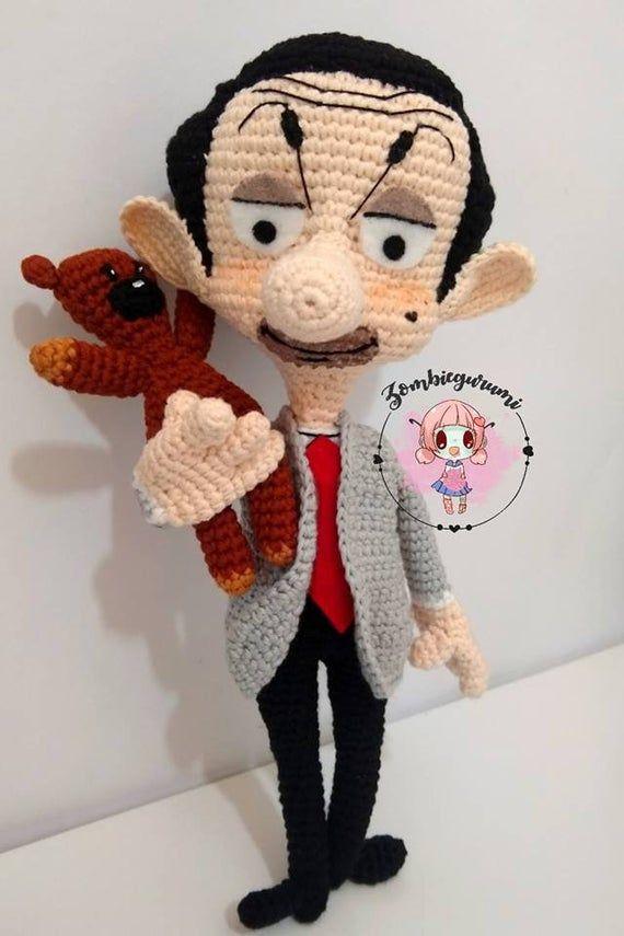 Mr Bean And Teddy Pattern Amigurumi Crochet Teddy Bear Pattern Crochet Dolls Free Patterns Mr Bean