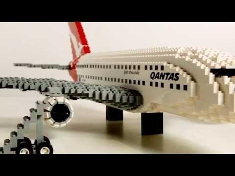 Qantas A380 built with LEGO