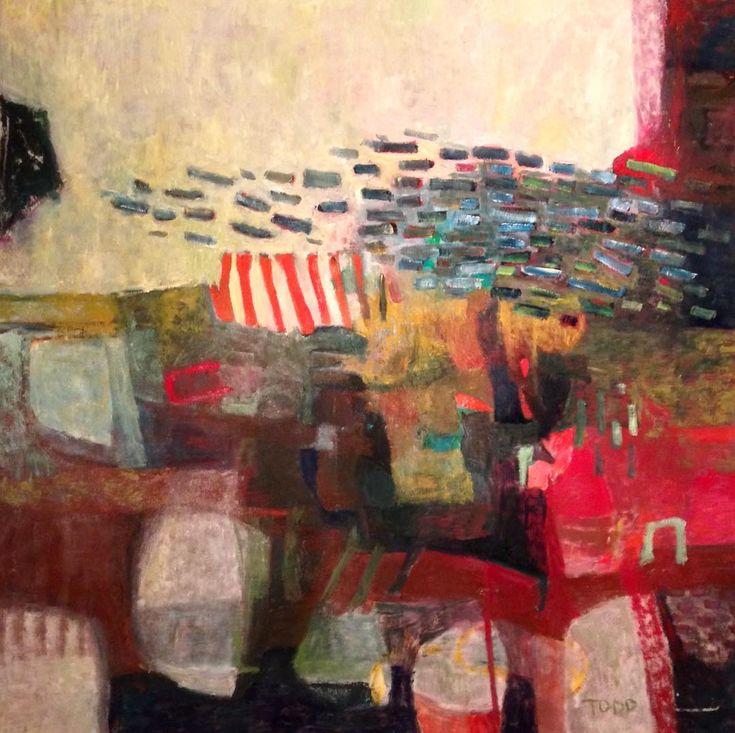 "Todd Clark Maybe I Shouldn't Have Whispered 54"" x 54"" oil on canvas #art #contemporaryart #landscapelovers #abstractart #painting #interiordesign #artistsoninstagram #studio #gallery #exhibition #torontolife #vancouver #toddclarkstudio #newyork #artcollector"