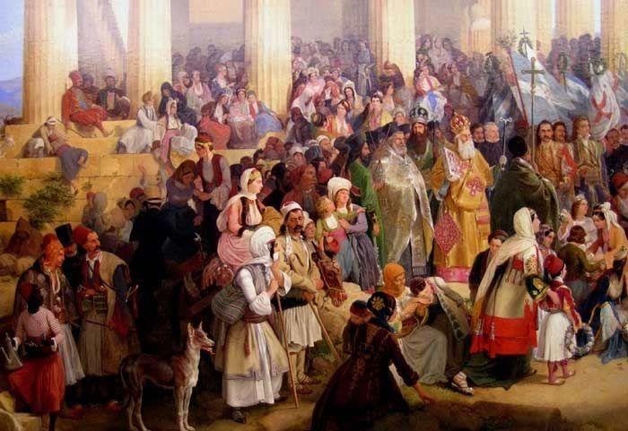Η άφιξη του Όθωνα στην Αθήνα-Συλλογή Ιδρύματος Ε. Κουτλίδη.