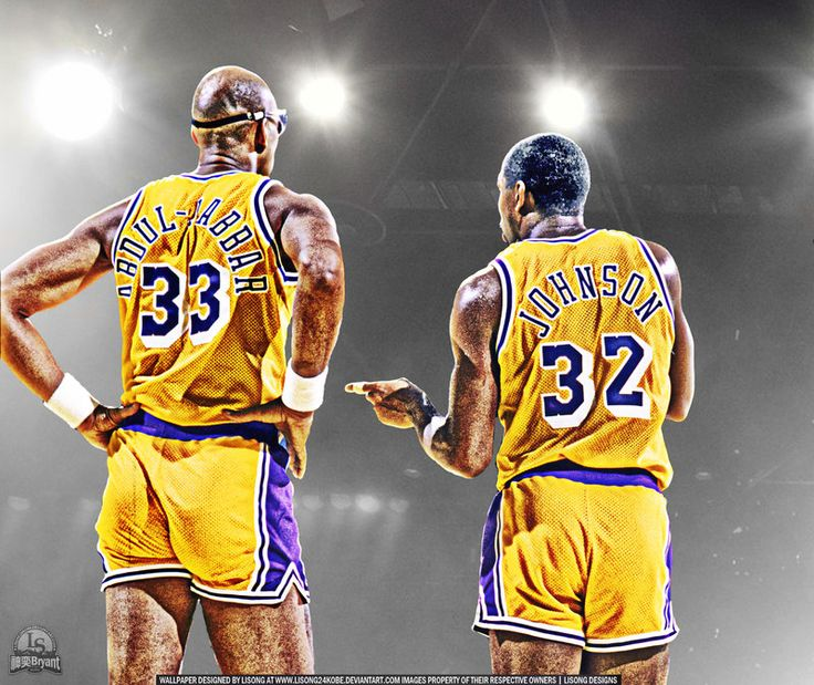 Abdul Jabbar and Magic Johnson by lisong24kobe on deviantART