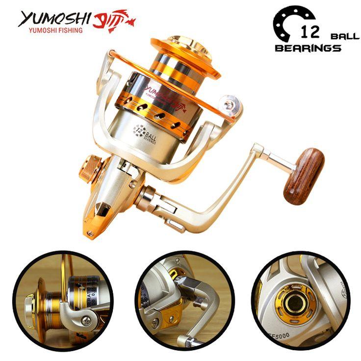 Fishing Reels. Yumoshi 500 - 9000 12BB Fishing Reel fly fishing reel Carp Feeder Spinning Fishing Reels Carretilhas de pesca Moulinet molinete. #Fishing Reels