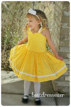 Toddler Yellow Dress - Girls Dress for Special Occasion - Baby girl Birthday Dress - Little girl Dress - Toddler girl Dress -Baby Girl Dress