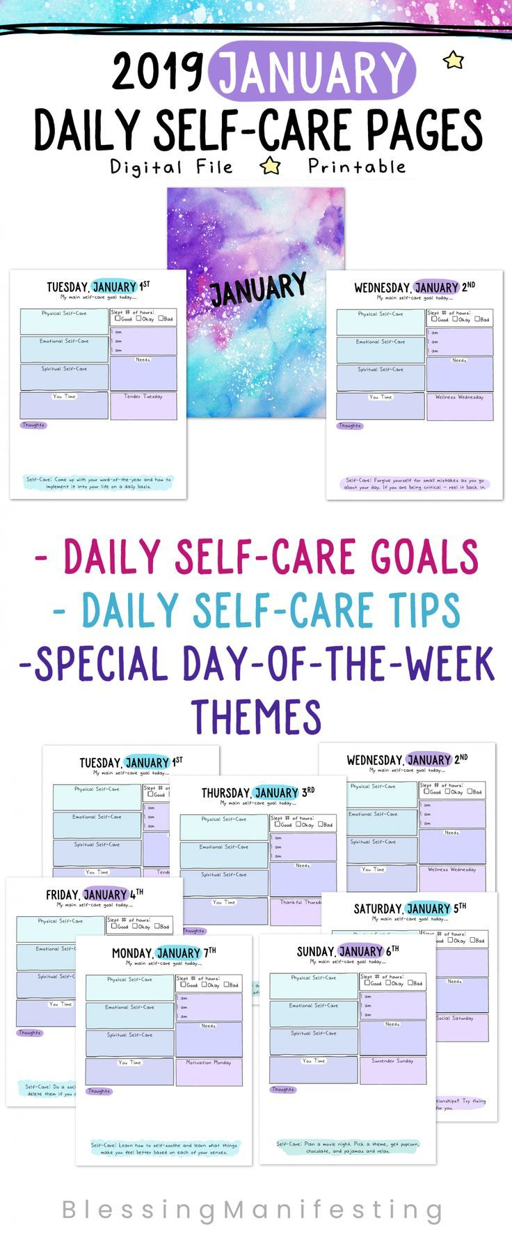 - Daily Self-Care Worksheets Self Care Worksheets, Self Care