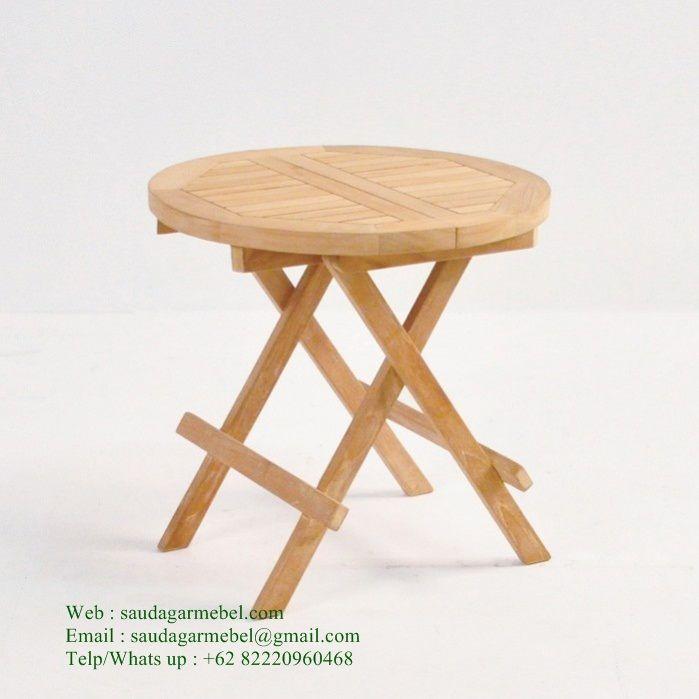 Small Round Folding Table Solid Wood Di 2020 Kursi Bar Mebel Klasik