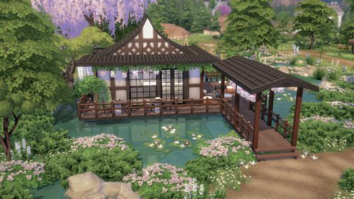 46 Unique Ways To Decorate Your Small Garden Design Sims 4 House Design Sims Building Sims House Design