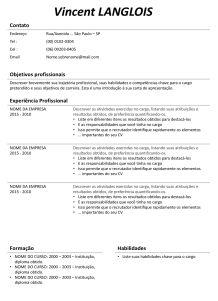 Modelo de currículo - Baixar 50 CV - Curriculum Vitae - Modelo-de-curriculo.com