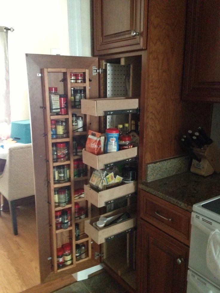 Broom Cupboard To Fit Next To 2 Door Fridge Goo Broom Cupboard Door Fit Fridge Google Kitch Pantry Cabinet Kitchen Pantry Cabinets Bathroom Cabinetry