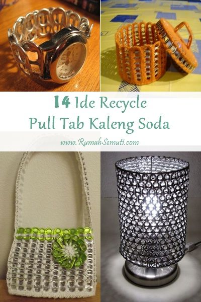 14 Ide Recycle Pull Tab Kaleng Soda
