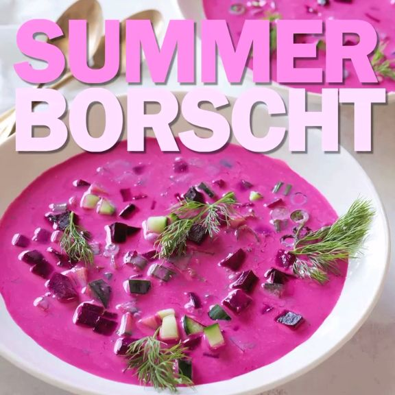 Ina's cool, creamy beet soup is perfect for lunch with friends.