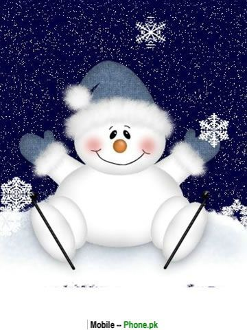 Christmas Snowman | cute_snowman_background_holiday_mobile_wallpaper.jpg