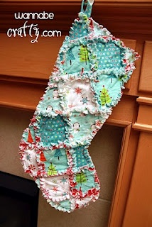 Just cute and easy.. Rag quilt Christmas stockings. #sewing #christmas #stockings