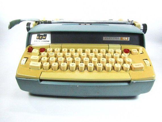 Vintage smith corona typewriterelectric by KarensChicNShabby