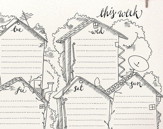 DOODLE Perpetual Weekly Planner: Window / Organizer