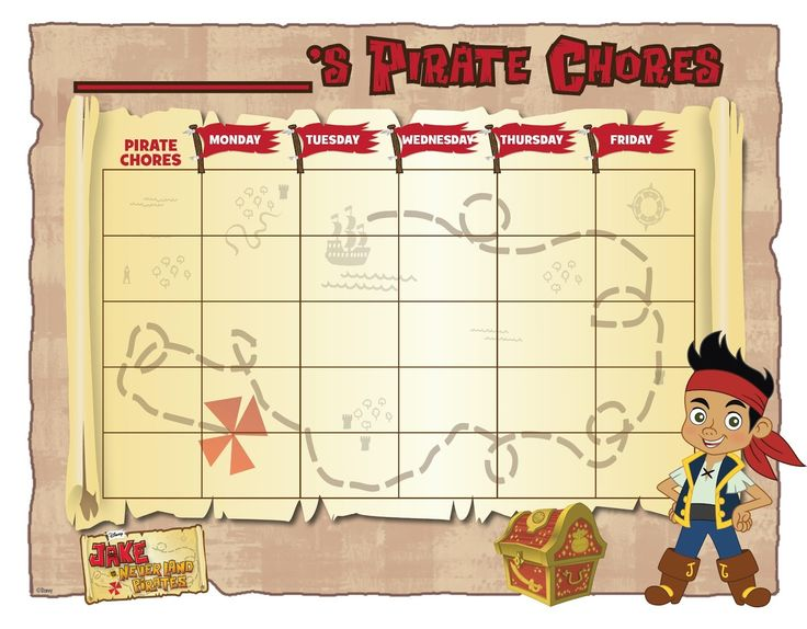 WNY Deals and To-Dos: Jake and the Never Land Pirates: A FREE chore sheet for your little one