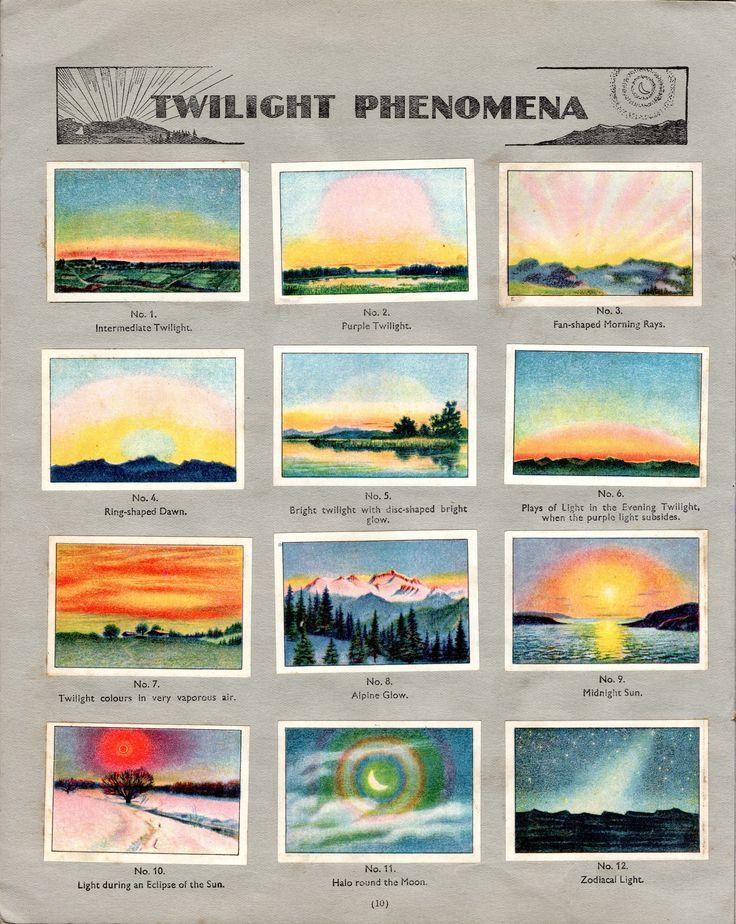 NESTLE': Wonders of the World (1932 - Twilight Phenomena)