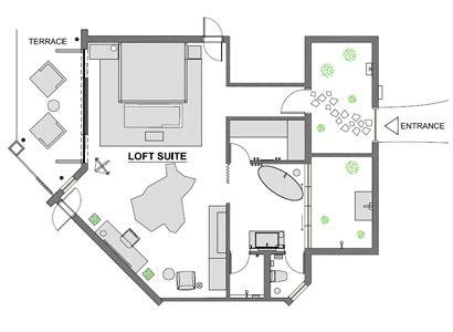 Loft suite's plan