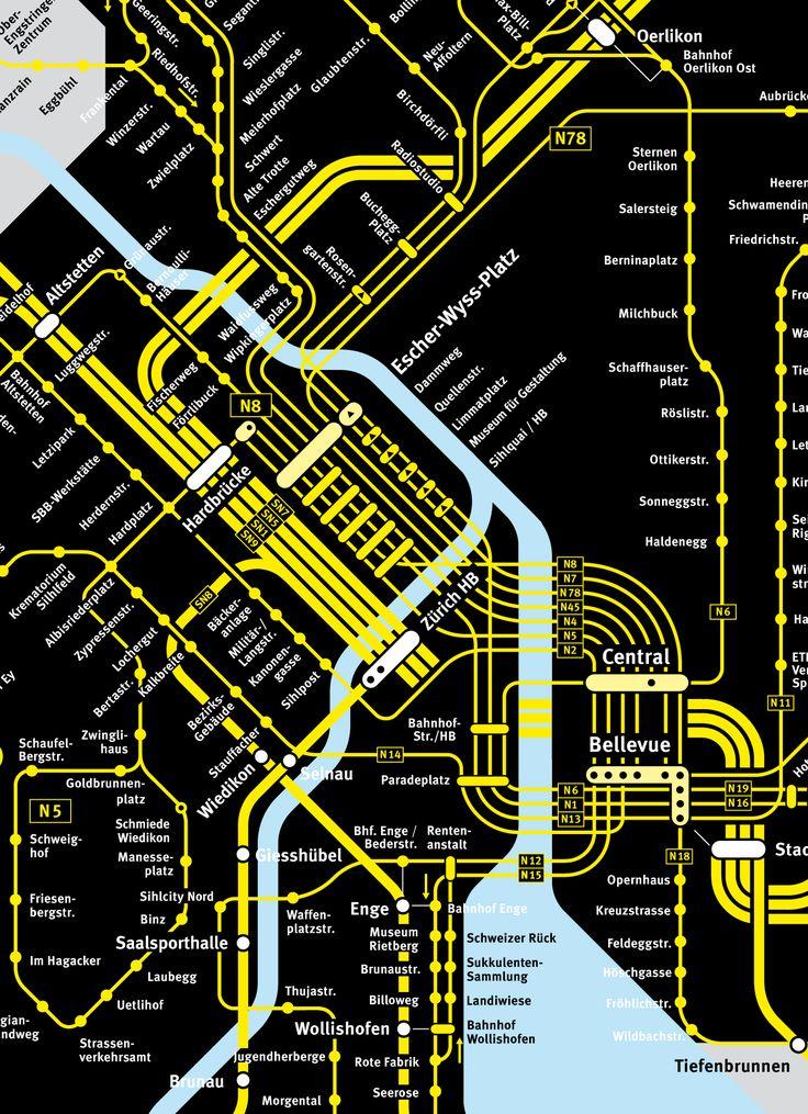 Zurich nighttime transport |  transit maps